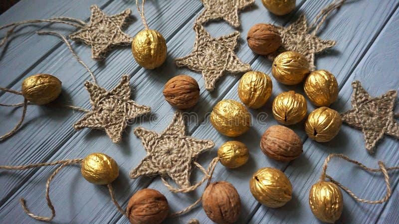 圣诞节装饰材料 免版税库存图片