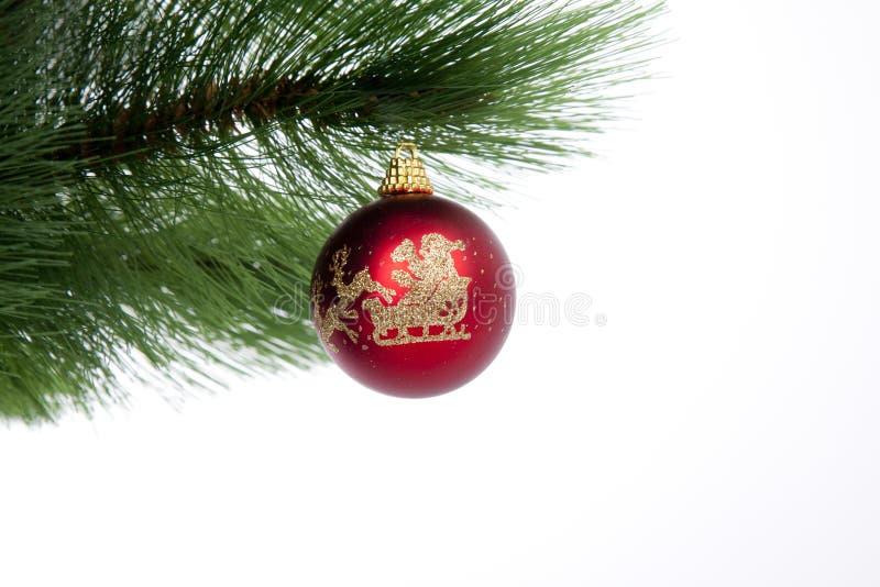 圣诞节装饰查出的红色 库存图片