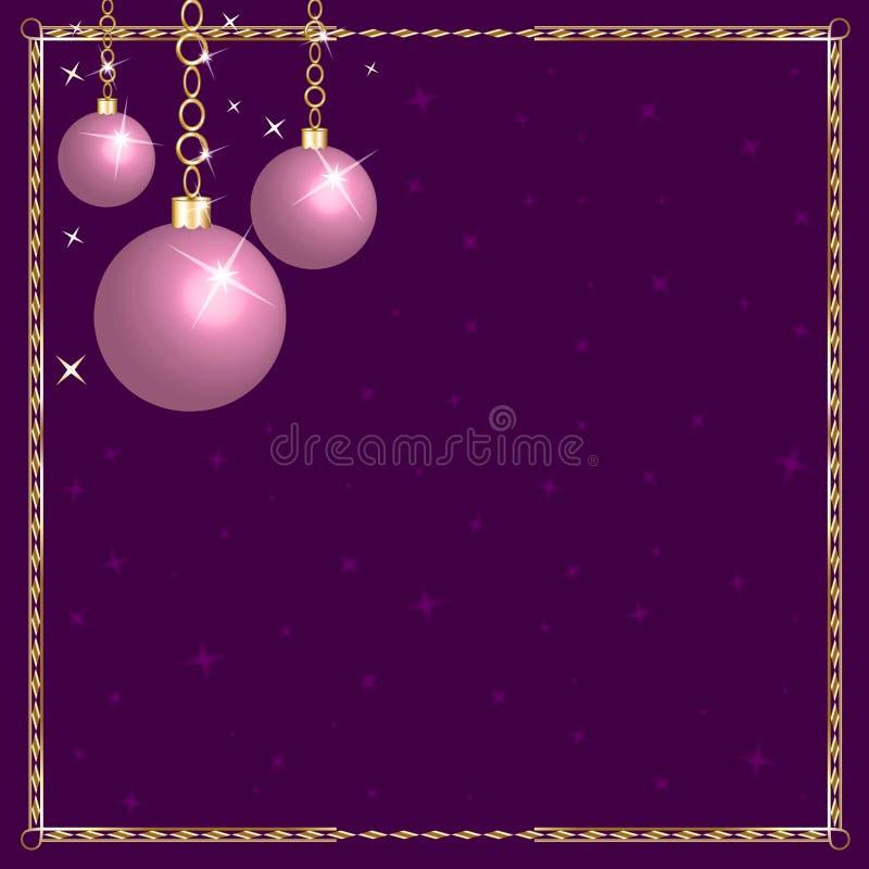 圣诞节装饰桃红色紫色 皇族释放例证