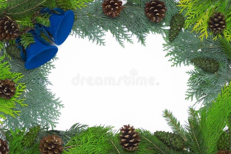 圣诞节装饰框架 免版税库存照片
