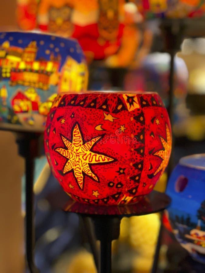 圣诞节装饰照明设备 免版税库存照片