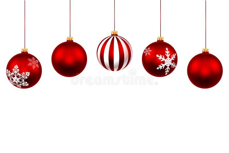 圣诞节装饰生态学木 向量例证
