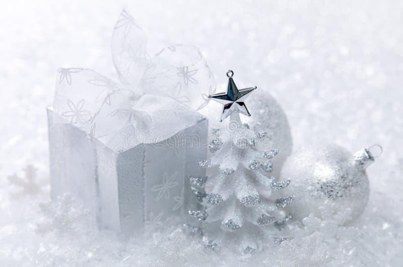 圣诞节装饰白色 图库摄影
