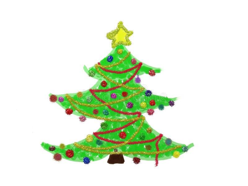 圣诞节装饰结构树 库存例证