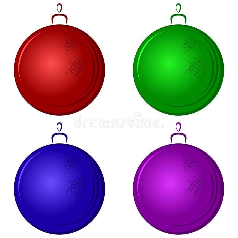 圣诞节装饰结构树 皇族释放例证