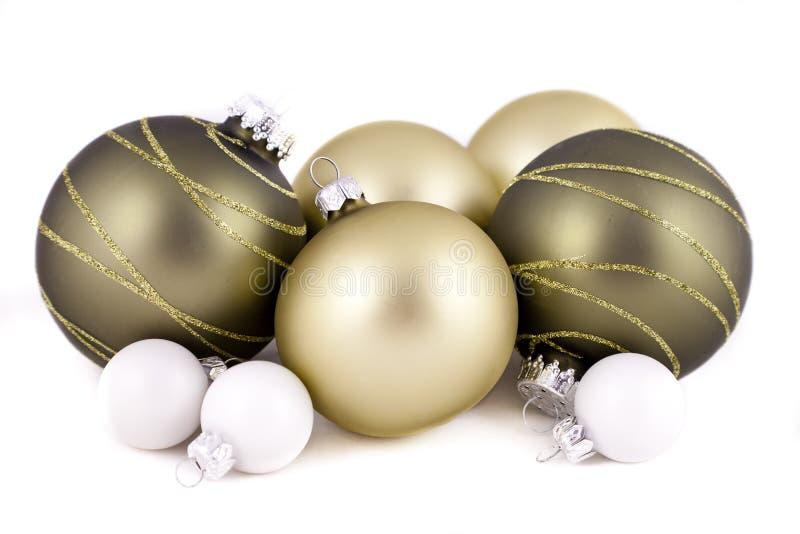 圣诞节装饰绿化白色 库存照片