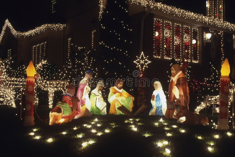 圣诞节装饰耶稣 库存图片