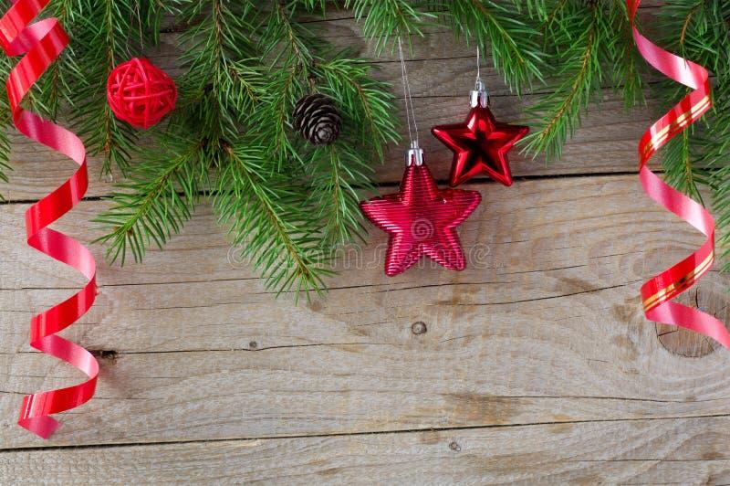 圣诞节装饰背景 免版税库存照片