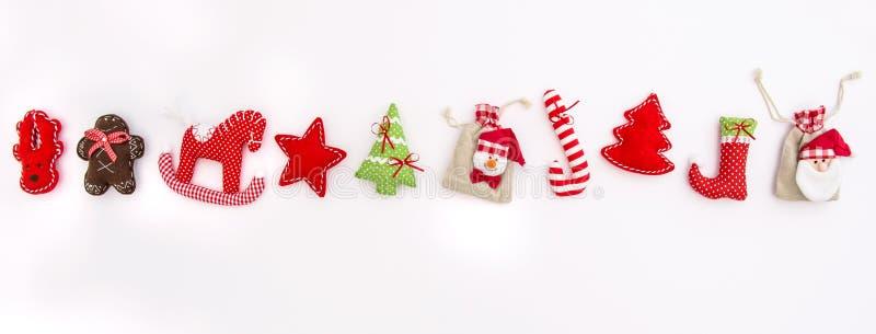 圣诞节装饰装饰寒假横幅 库存照片