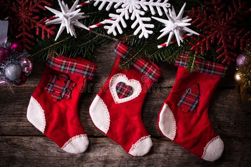 圣诞节装饰装饰新家庭想法 库存例证