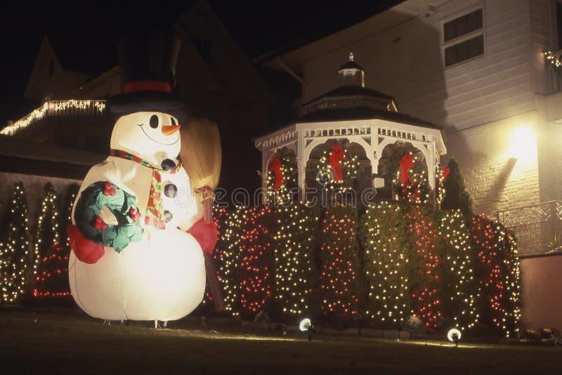 圣诞节装饰雪人 图库摄影