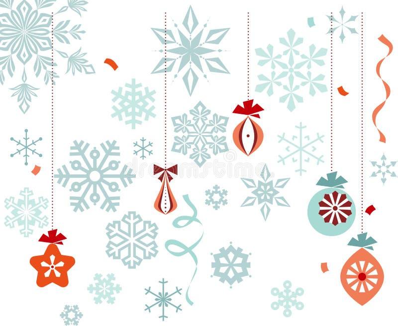 圣诞节装饰雪花 库存图片