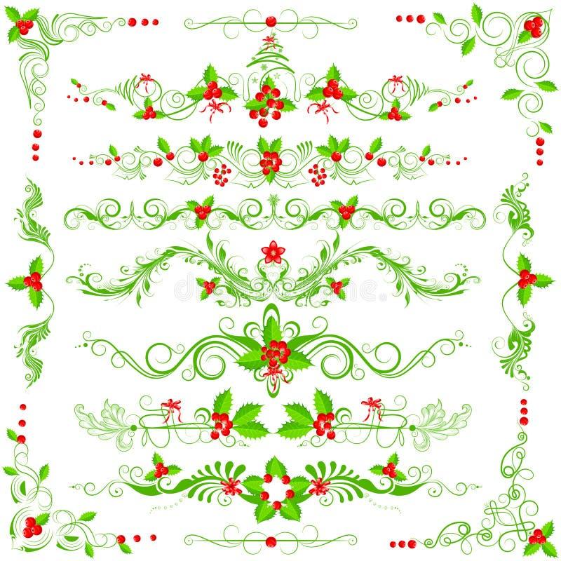 圣诞节装饰 库存例证