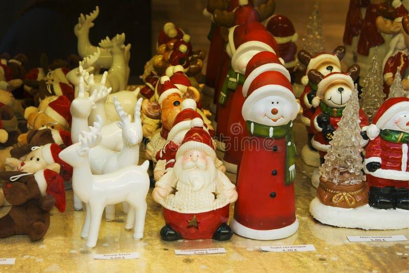 圣诞节装饰vitrine 库存图片