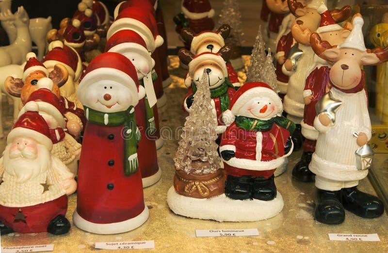 圣诞节装饰vitrine 免版税图库摄影