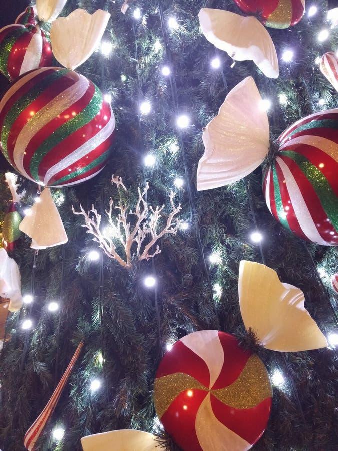 圣诞节装饰xmas树雅典希腊 图库摄影