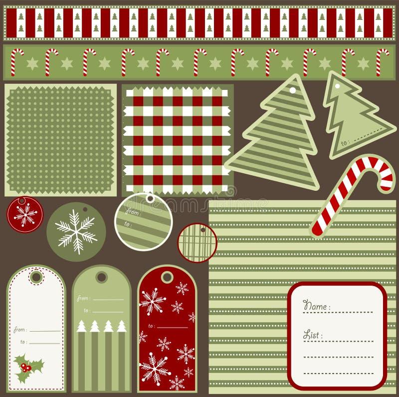 圣诞节要素剪贴薄 库存照片