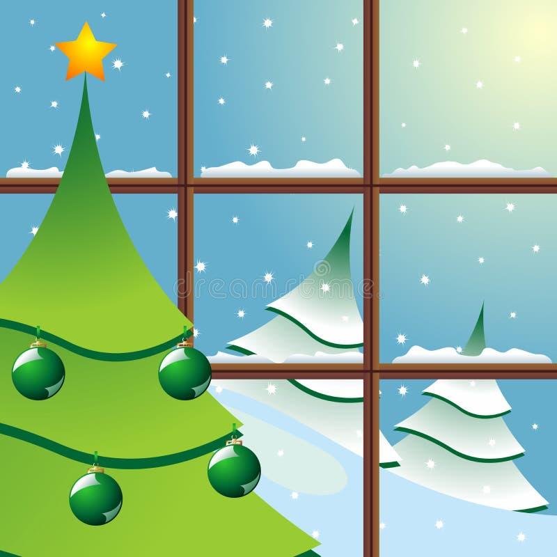 圣诞节视窗 库存例证