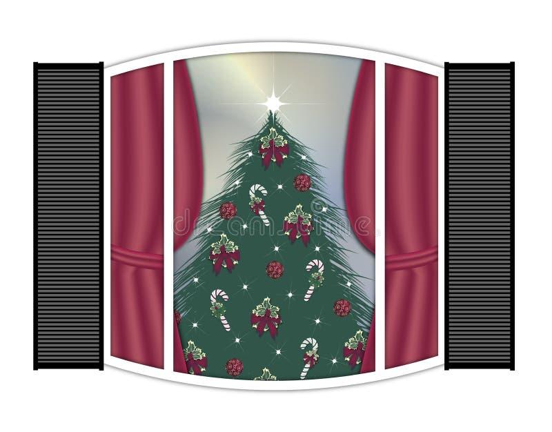 圣诞节视窗 向量例证