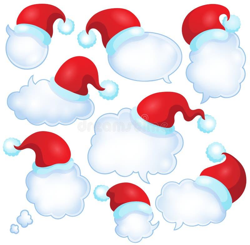 圣诞节讲话泡影设置了1 皇族释放例证