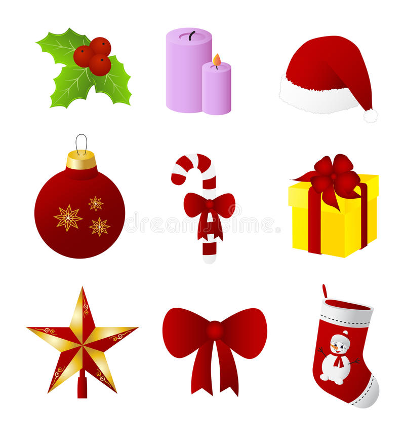 圣诞节设计元素集 向量例证