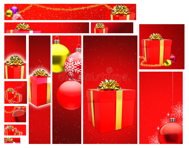 圣诞节设计模板 向量例证