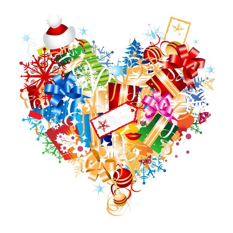 圣诞节设计礼品想法 皇族释放例证