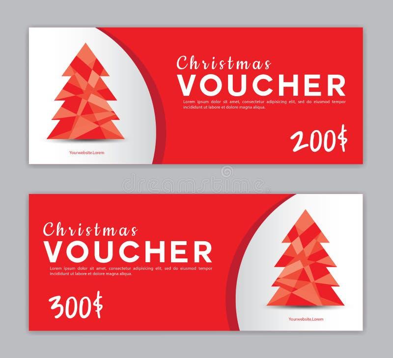 圣诞节证件,销售横幅模板,水平的圣诞节海报,卡片,倒栽跳水 向量例证