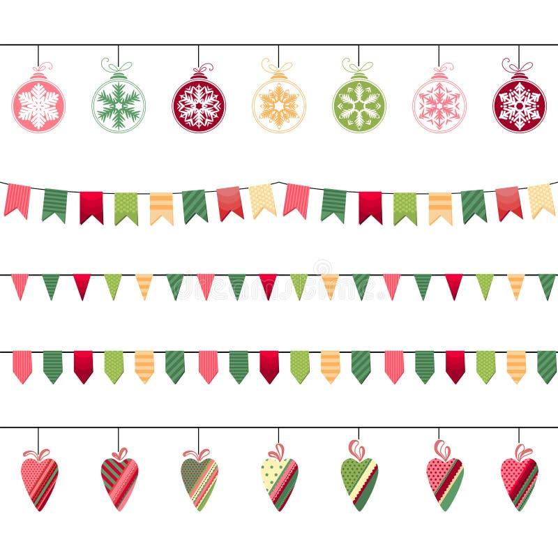 圣诞节诗歌选,不尽的水平的纹理 向量例证