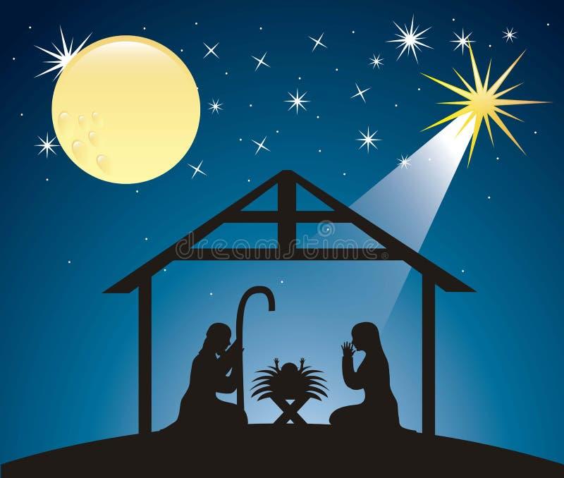 圣诞节诞生场面 皇族释放例证