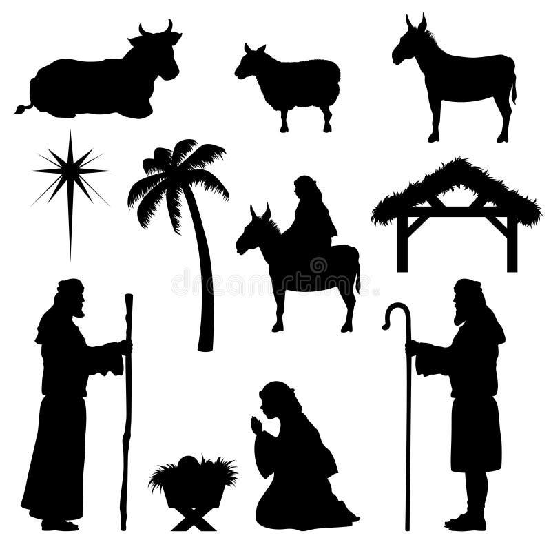 圣诞节诞生象牧羊人 免版税库存照片