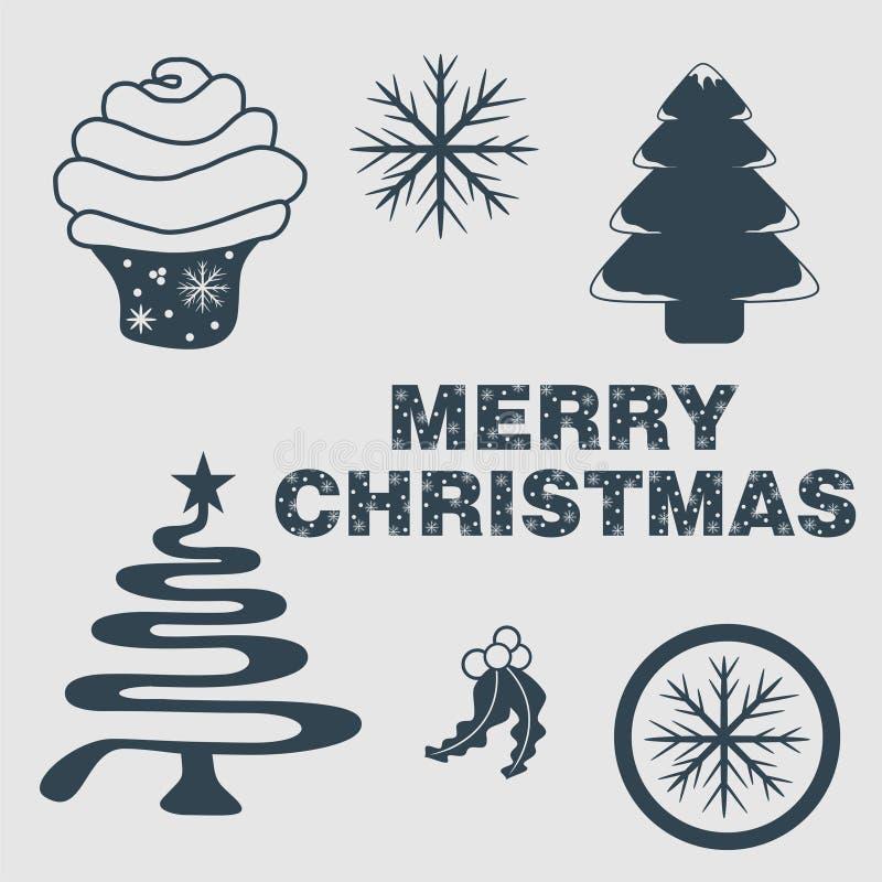 圣诞节象组合图案商标启发 皇族释放例证