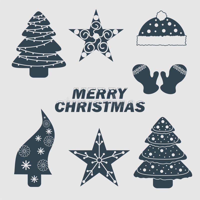 圣诞节象组合图案商标启发 向量例证