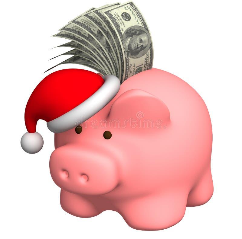 圣诞节货币 皇族释放例证