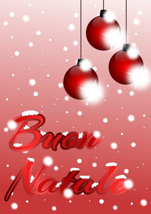 圣诞节贺卡用意大利语 库存例证