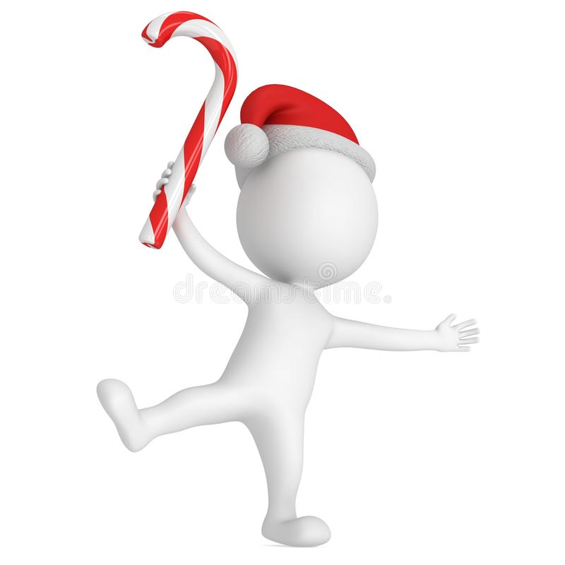 圣诞节跳舞快活的圣诞老人的克劳斯 向量例证