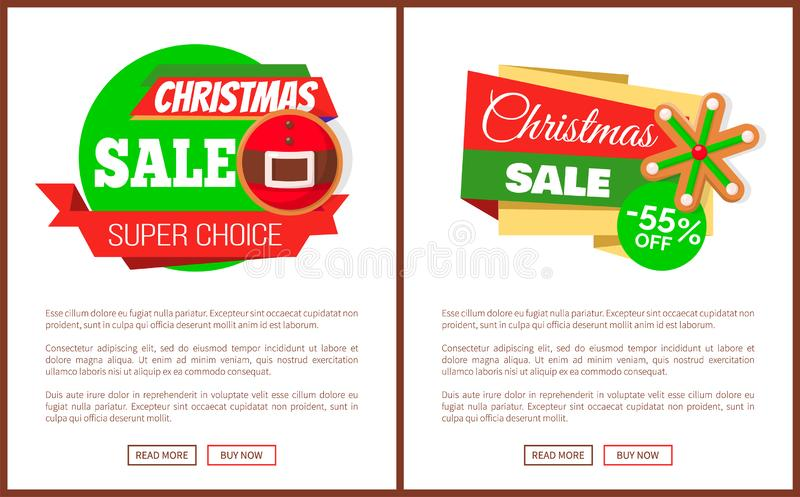圣诞节身价价牌圣诞老人传送带和雪花 向量例证