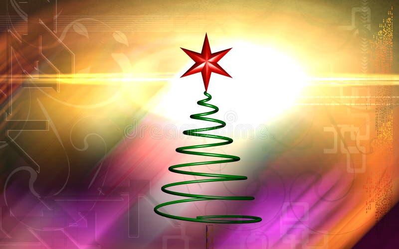 圣诞节转动的结构树 皇族释放例证
