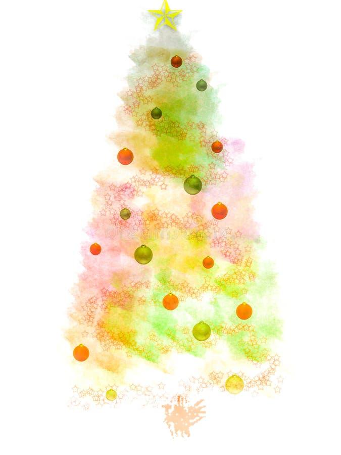 圣诞节软的结构树 向量例证