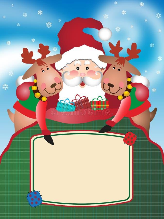 圣诞节辅助工驯鹿s圣诞老人 向量例证