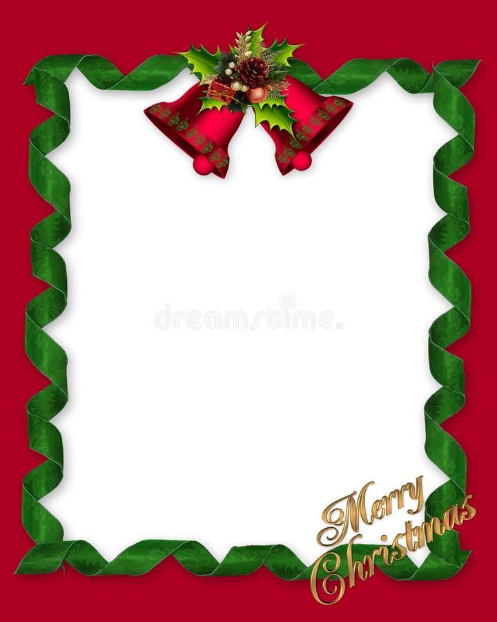 圣诞节边界框架 库存例证