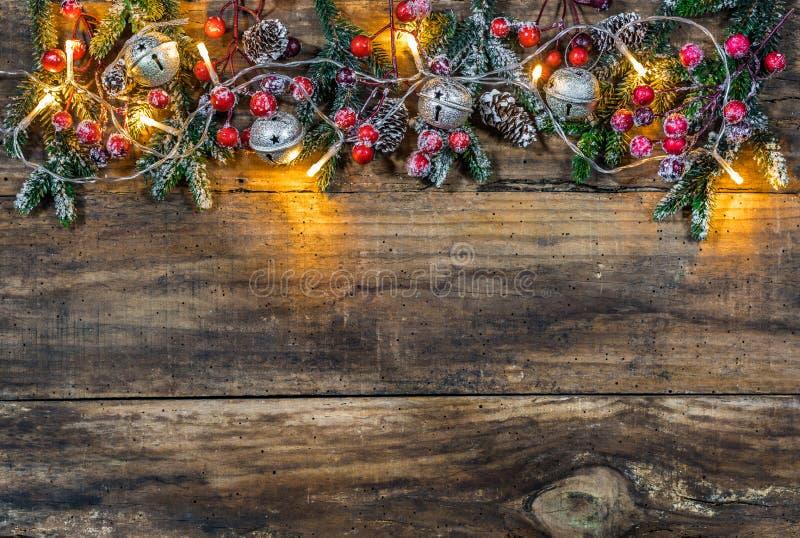 圣诞节边界背景 免版税库存图片