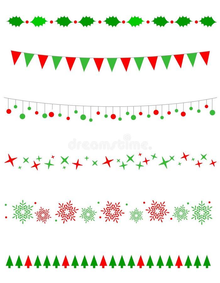 圣诞节边界/分切器 库存例证