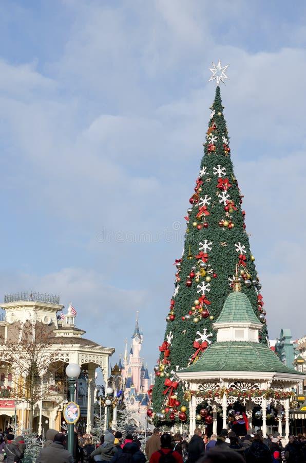圣诞节迪斯尼乐园法国主要巴黎st 库存图片