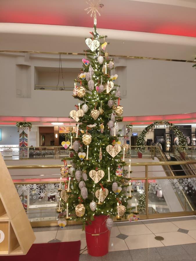 圣诞节逗人喜爱的结构树 图库摄影