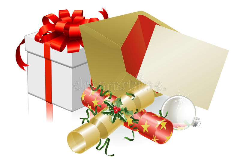 圣诞节邀请信函场面 库存例证