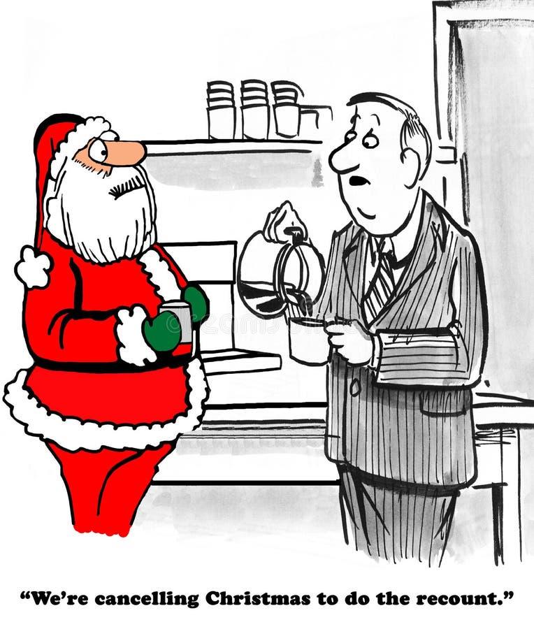 圣诞节重新计数 库存例证