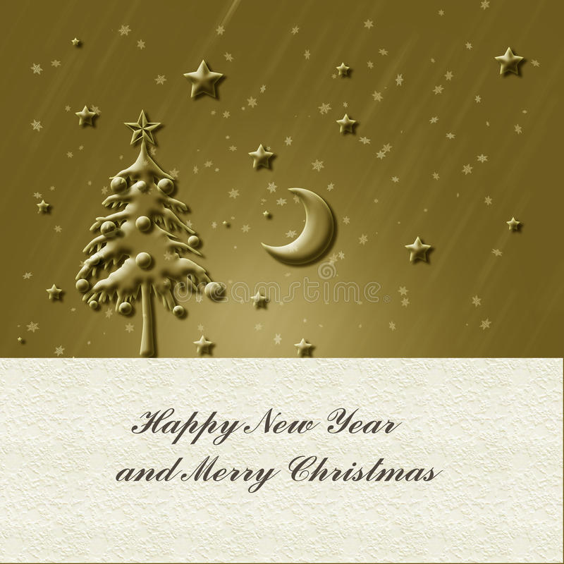 圣诞节金卡片 库存图片