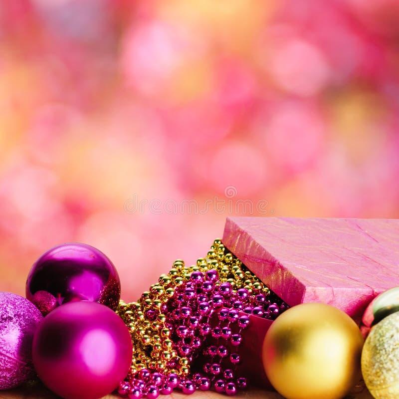 圣诞节金子粉红色 向量例证