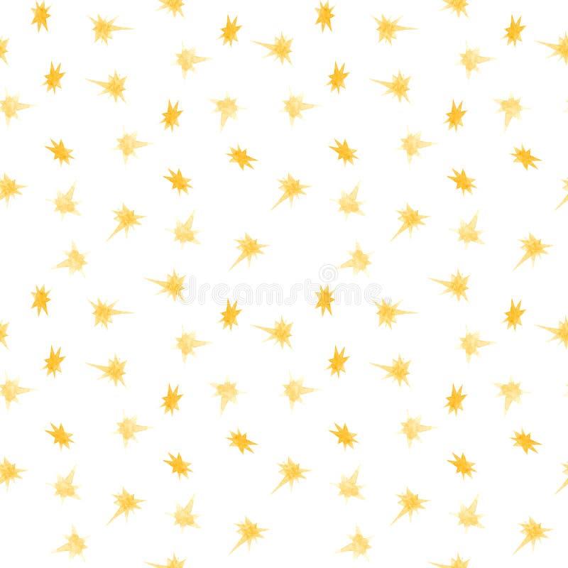 圣诞节金星水彩无缝的样式背景 免版税库存图片